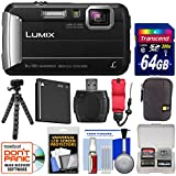 Panasonic Lumix DMC-TS30 Tough Shock & Waterproof Digital Camera (Black) with 64GB Card + Case + Battery + Flex Tripod + Float Strap + Kit
