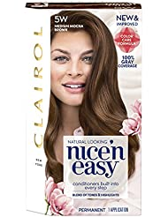 Clairol Nice 'n Easy, 5W/118B Medium Mocha Brown, Permanent...