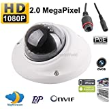 2 Megapixel 1080P 2.8mm Wide Angle Lens Vandal Proof 10PCS IR Mini Dome IP Security PoE Onvif Camera, For Nighttime Protection, Ideal For Home & Business Video Surveillance!
