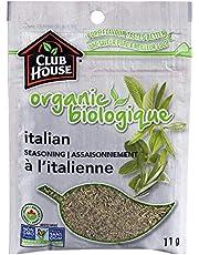 Club House, Quality Natural Herbs & Spices, Organic Italian Seasoning, 11g