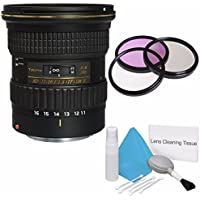 Tokina 11-16mm f/2.8 AT-X 116 PRO DX-II Lens for Canon Mount (International Model) No Warranty+Deluxe Cleaning Kit + 77mm 3 Piece Filter Kit Bundle 2