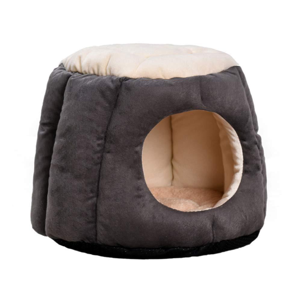 Reducción de precio Jerarquía del Animal doméstico, Cama de Invierno semicerrada de algodón/Perro PP de algodón semicerrado, sofá, 3 Colores / 2 tamaños