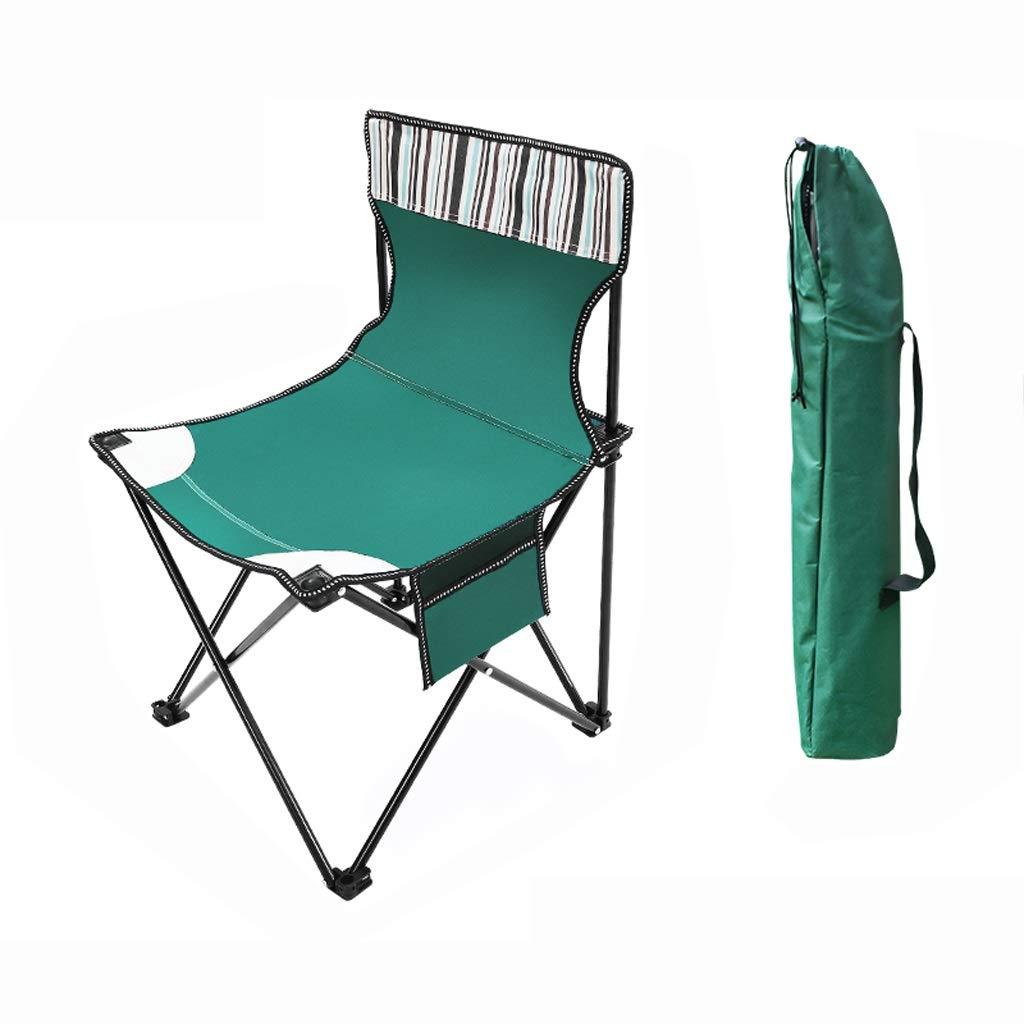 barato y de alta calidad verde S-2 packs Hwt's Folding Folding Folding chair Silla de Camping Portátil Plegable Al Aire Libre Adecuada para La Pesca en La Jugara 35  35  60 Cm (marrón verde Azul) (Color   verde, Tamaño   S-2 Packs)  de moda