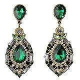 Changeshopping Women Sparkling Crystal Teardrop Dangle Rhinestone Stud Earrings