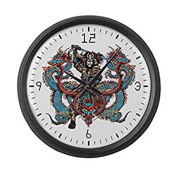 Large Wall Clock Japanese Samurai with Dragons