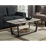 Convenience Concepts Graystone Coffee Table, Faux Birch