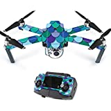 Skin For DJI Mavic – Blue Scales | MightySkins Protective, Durable, and Unique Vinyl Decal wrap cover | Easy To Apply, Remove, and Change Styles | Made in the USA