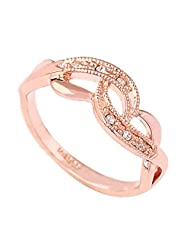 Acefeel Gold Plated Inlaid Clear Stone Trendy Spiral Pattern Ring Black Friday Christmas Gift R209