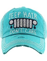 Womens Baseball Cap Distressed Vintage Unconstructed Embroidered Dad Hat