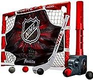 Franklin Sports Knee Hockey Goal Set - Mini Hockey Stick Set - Automatic Ball Passer, Goal & Target Set -