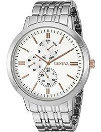 Men's GV/5001SVTT Multi-Function Dial Silver-Tone Bracelet Watch