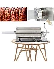 Korvstoppare manuell korvstoppningsmaskin press korvspruta rostfritt stål 4 x fyllningsrör köttkvarn