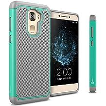 LeEco Le Pro 3 Case, CoverON [HexaGuard Series] Slim Hybrid Hard Phone Cover Case for LeEco Le Pro 3 - Teal Mint