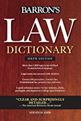Barron's Law Dictionary [Paperback] [2010] (Author) Steven H. Gifis Paperback