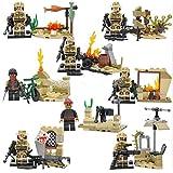 (Ferris wheel TH) Brand New 8 Pcs Soldier Minifigures Building Blocks Sets Toy children's gift Christmas