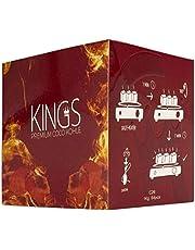 4 kg Kings węgielki do shishy: 26 szt. Kings Premium węgiel naturalny do sziszy wysokiej jakości węgiel kokosowy brykiety do fajki wodnej i grilla – szisza, kostki węglowe i węgiel do grilla