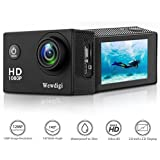 Action Camera, Wewdigi EV4000 12MP 1080P 2 Inch LCD Screen, Waterproof Sports Cam 140 Degree Wide Angle Lens, 30m Sport Camera DV Camcorder With 10 Accessories Kit (Black) (black)