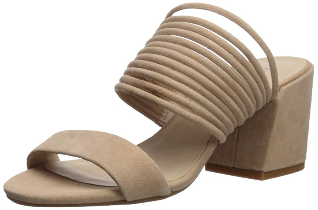 Buff Kenneth Cole New York Womens Hannon Strappy Mule Heeled Sandal