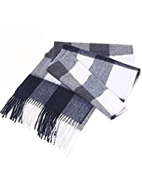 Scarf,Winter Warm Wool Cashmere Feel Soft Knitted Gentleman Scarf, Fashion,Cashmere, Business Neckerchief (Color : Gray)