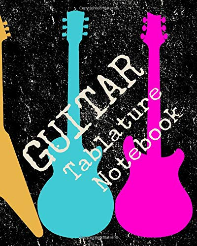 Guitar Tablature Notebook Blank Tab Music Paper 6 line staves and 5 blank cord boxes on top of each page 110 pages (GT 8 x 10) [Books, FarOut&Fab] (Tapa Blanda)