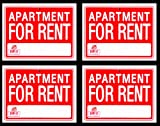 4 Signs APARTMENT FOR RENT Sign Flexible Heavy