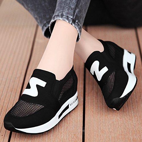 Noir GTVERNH A L'Intérieur Chaussures Femmes Printemps Wild Chaussures De Net Net érosion De Ventilation De Sport De Souliers. Thirty-eight
