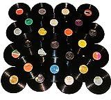 "VinylShopUS - Lot of 12"" Vinyl Records for Crafts & Decoration Artwork for Party Decor Artist Studio Vintage Look"