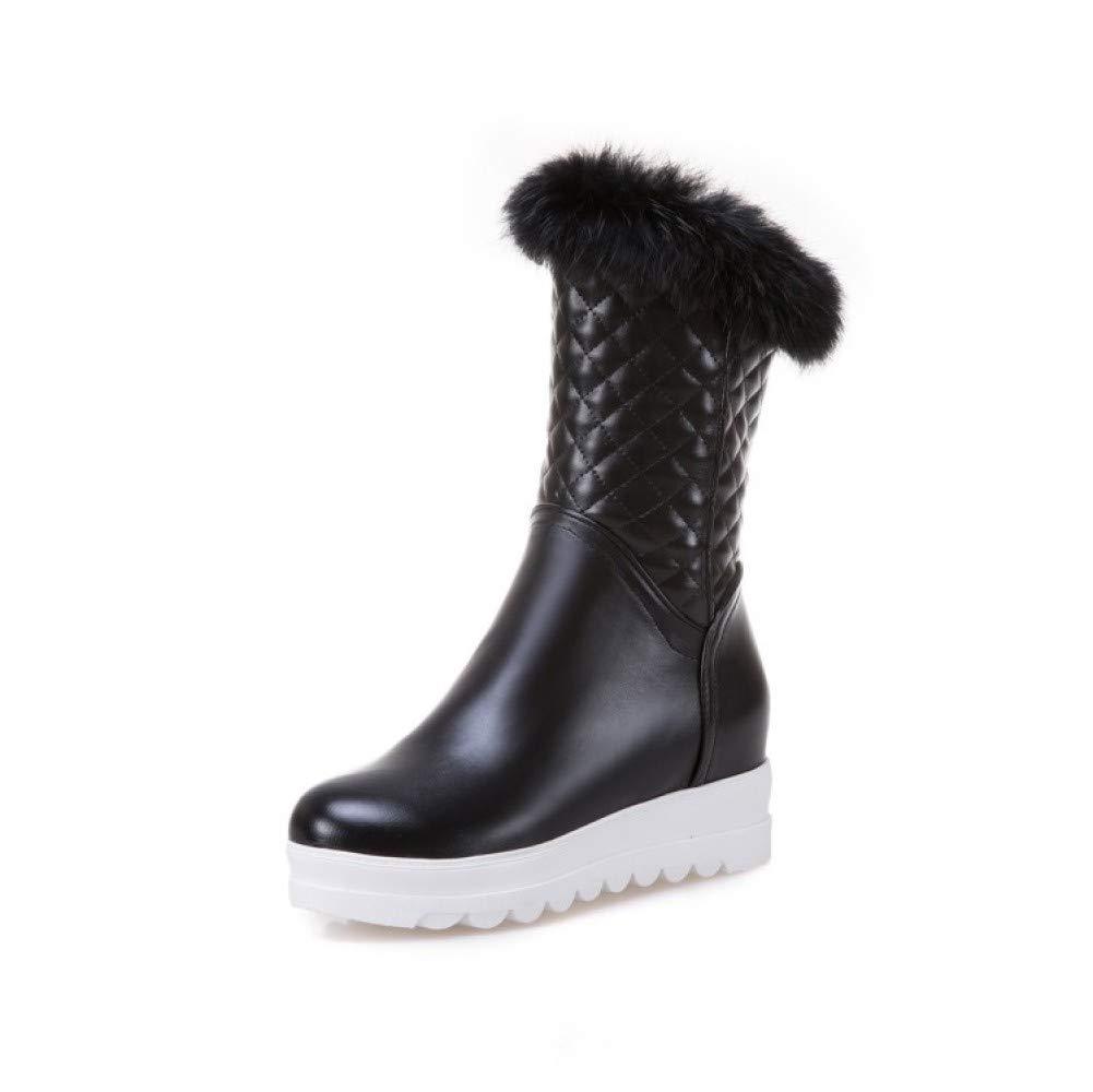 QINGMM Frauen Plüsch Schnee Schnee Schnee Stiefel 2018 Herbst Winter Beiläufige Flache Plattform Stiefel Große Größe 33-44 B07JP2D472 Sport- & Outdoorschuhe Qualität und Quantität garantiert f99550