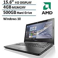 2016 New Edition Lenovo 15.6-inch Premium Laptop, AMD Dual-Core Processor, 4GB Memory, 500GB Hard Drive, HD LED Backlit Display (1366 x 768), DVD Burner, HDMI, VGA, Bluetooth, Webcam, Windows 10