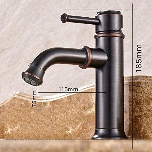 Alle kupfer Europäischen stil waschbecken waschbecken waschbecken hahn schwarz bad warmen und kalten wasserhahn ein