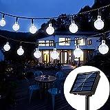 Solar String Lights Globe 33 Feet 60 Crystal Balls