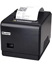 80mm Thermal Receipt Printer, MUNBYN POS Printer with USB Ethernet Serial Port High Speed Printer Compatible with ESC/POS Print Commands Support Windows Mac System