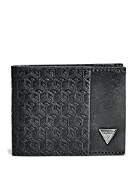 GUESS Men's Emil G-Cube Billfold Wallet