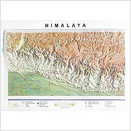 Mapa en relieve del Himalaya: Escala gráfica: Amazon.es: All 3D Form S. L.: Libros en idiomas extranjeros
