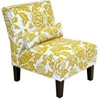 Skyline Furniture Slipper Armless Chair in Canary Maize