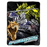 "Transformers Optimus Prime Silver Night Super Plush Throw 60""x46"""