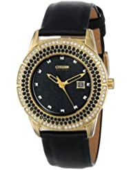 Citizen Womens FE1112-06E Drive From Citizen Eco-Drive TTG Analog Display Japanese Quartz Black Watch