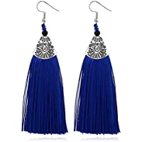 Elogoog Vintage Retro Style Tassels Fringe Dangle Drop Earring,Fashion Boho Earrings, Birthday Gift