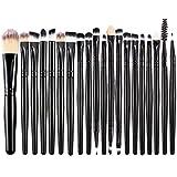 BESTOPE Makeup Brush Set Foundation Cosmetic Face Eyeliner Powder Brush Makeup Brushes Kit (20 Pcs, Black)