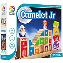 SmartGames Camelot Jr. Wooden Cognitive Skill-Building Puzzle Game featuring 48 Playful Challenges for Ages 4+