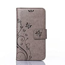 UNEXTATI Case for Galaxy Note 8, [Kickstand Feature] Flip Folio Leather Wallet Case with ID and Credit Card Pockets for Samsung Galaxy Note 8 (Gray)
