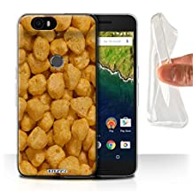 STUFF4 Gel TPU Phone Case / Cover for Huawei Nexus 6P / Golden Nuggets Design / Breakfast Cereal Collection