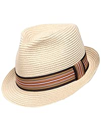 Sedancasesa Panama Hat Packable Straw Hats Beach Summer Fedora Sun Cap Unisex Caps
