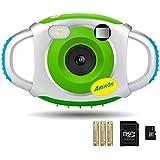 Digital Camera for Kids, AMKOV Kids Camera, 1.44 Inch Full-Color TFT Display Kid Video Camera, Green (kids camera with memory card)