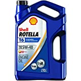 Shell Rotella T6 Full Synthetic Heavy Duty Engine Oil 5W-40, 1 Gallon