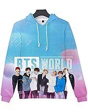 Aopostall BTS Merchandise,Kpop BTS Jimin Jungkook Suga V J-Hope 3D Hoodie New Album MAP of The Soul Persona Sweatshirt Sweater