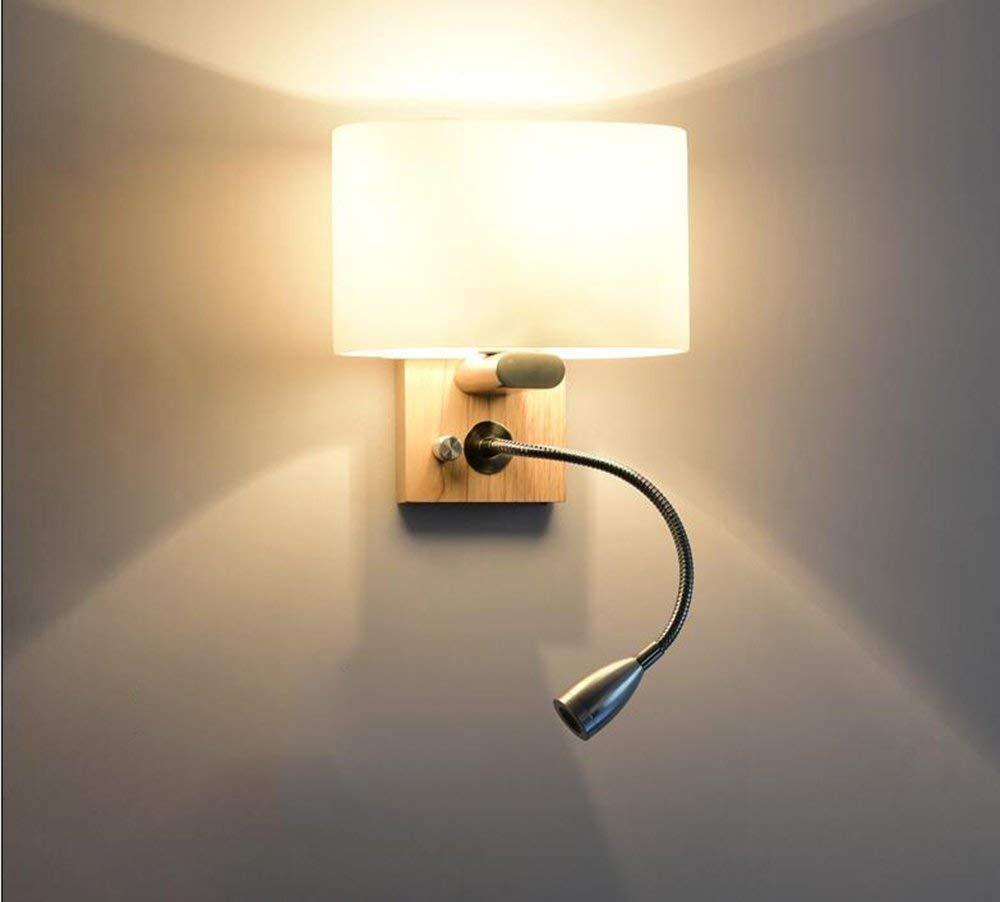 FuweiEncore Nordic Moderne Wandleuchte, Einfache Kreative American Lounge Die Schlafzimmer Nachttischlampe Walking Stairs Wandleuchte Massivholz (Farbe   -, Größe   -)