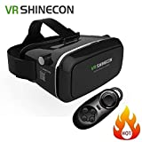 CEStore® 3D VR Headset Glasses Virtual Reality Mobile Phone with Head-mounted Headband and Bluetooth Remote Controller for Android Mobile Phones 4.0 - 6.0 Inch, Adjustable Focal Pupil Distance