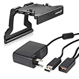 Fosmon Bundle Pack for Microsoft Xbox 360: Power Supply Cable for Kinect and Kinect Sensor TV Mounting Clip Kit for Microsoft Xbox 360