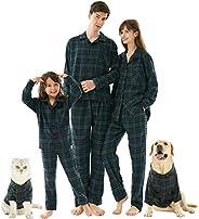 HOME RIGHT Family Christmas Pajamas Sets, 2pcs Long Sleeve Xmas Pjs Matching Couples Pajama Sleepwear for Mom